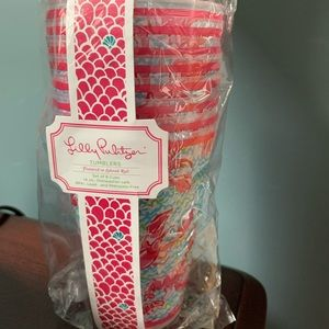 NWT, Lilly Pulitzer Lobstah Roll tumbler set